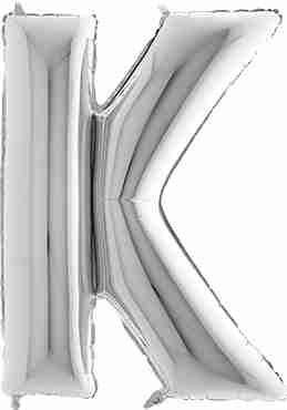 K Silver Foil Letter 7in/18cm