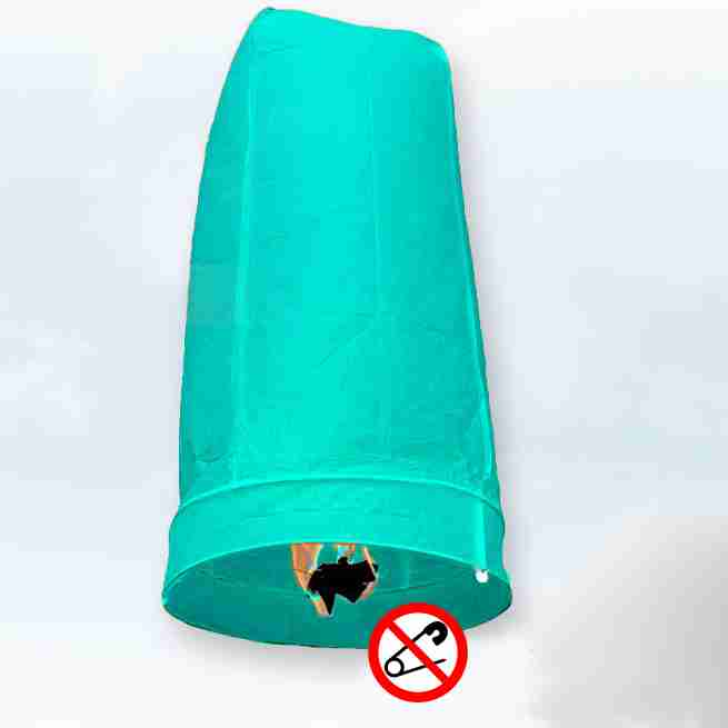 Khom Loy Wensballon 50 x 100cm Blauw