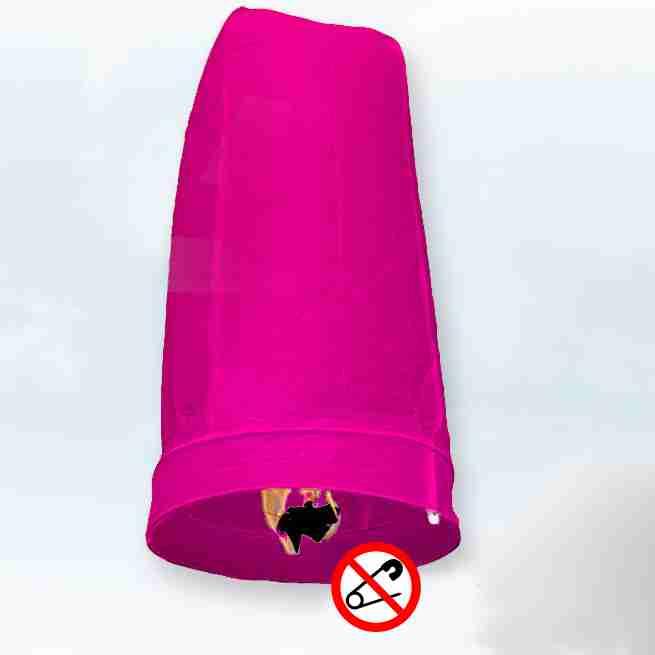 Khom Loy Wensballon 50 x 100cm Roze