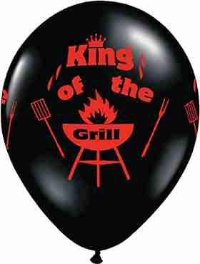 King Of The Grill Fashion Onyx Black Latex Round 11in/27.5cm