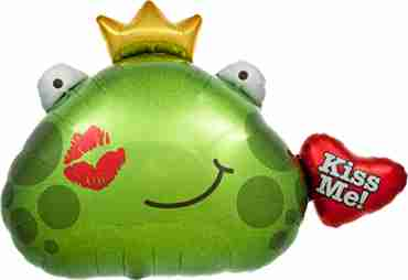 Kiss Me Frog Princess Foil Shape 32in/81cm