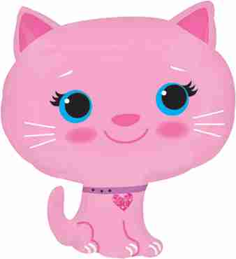Kitten - Pink Vendor Foil Shape 17in/43cm x 20in/51cm