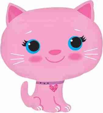 Kitten - Pink Vendor Foil Shape 17in/43cm x 20in/51cm