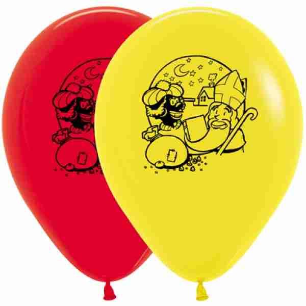 Latex Ballonnen Sinterklaas Zwarte Print