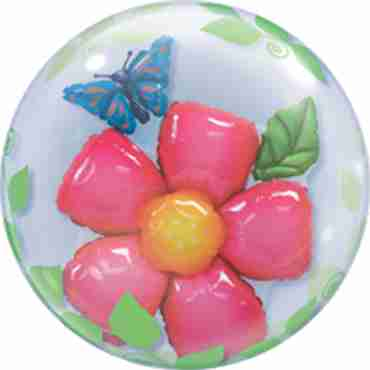 Leaves Flower Double Bubble 24in/60cm