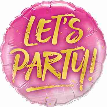 Let's Party Foil Round 9in/22.5cm