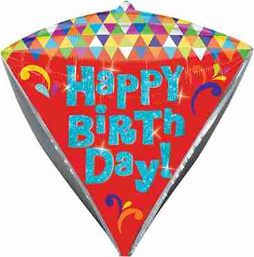Lets Party Happy Birthday Diamondz 15in/38cm x 17in/43cm
