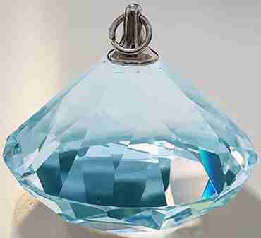 Light Blue Diamond Weight 75g 5x4cm