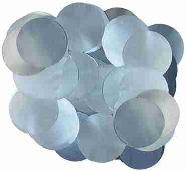 Light Blue Pearl Metallic Round Foil Confetti 10mm 50g
