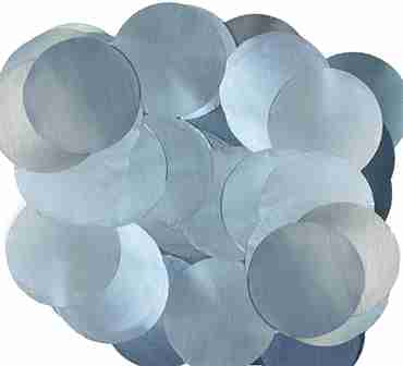 Light Blue Pearl Metallic Round Foil Confetti 25mm 50g