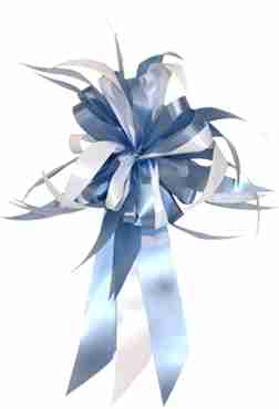 Light Blue/White MasterBow Starburst Bow