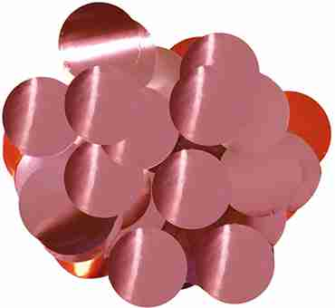 Light Pink Metallic Round Foil Confetti 10mm 50g