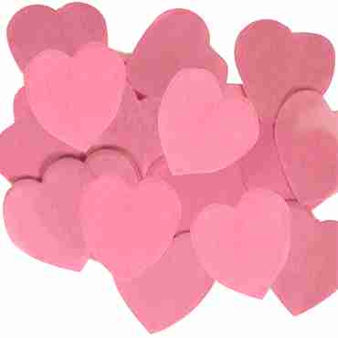Light Pink Paper Heart Confetti (Flame Retardant) 30mm 100g