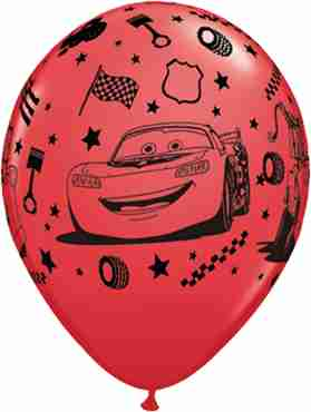 Lightning McQueen and Mater Standard Red Latex Round 11in/27.5cm