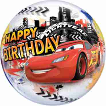 lightning mcqueen birthday single bubble 22in/55cm