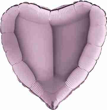 Lilac Foil Heart 18in/45cm