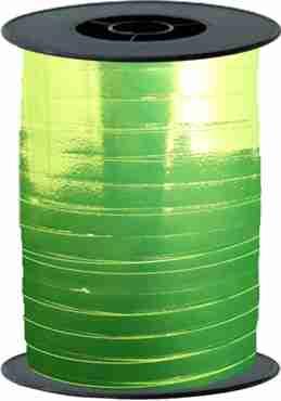Lime Green Metallic Curling Ribbon 10mm x 250mm