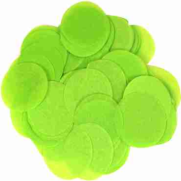 Lime Green Paper Round Confetti (Flame Retardant) 15mm 14g