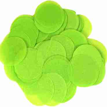 Lime Green Paper Round Confetti (Flame Retardant) 25mm 14g