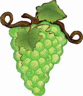 Linky Grapes Green Foil Shape 31in/79cm