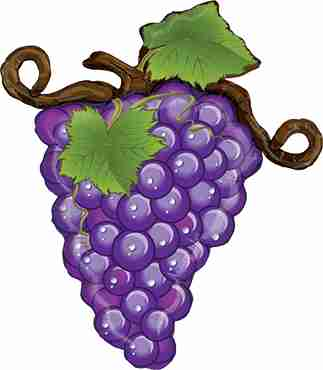 Linky Grapes Purple Foil Shape 31in/79cm