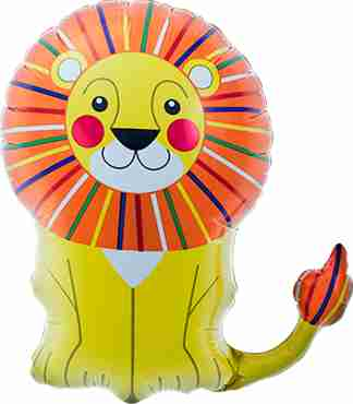 lion foil shape 14in/35cm