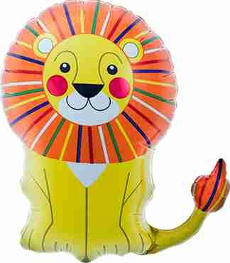 Lion Foil Shape 14in/35cm