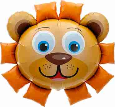 lion head foil shape 35in/89cm