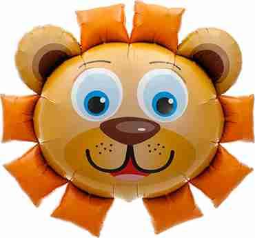 Lion Head Foil Shape 35in/89cm