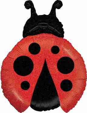 Little Ladybug Holographic Foil Shape 27in/69cm