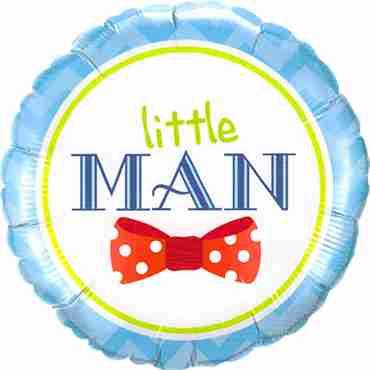 Little Man Bow-Tie Foil Round 18in/45cm