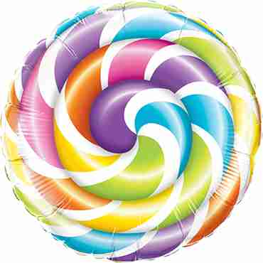 Lollipop Foil Round 9in/22.5cm