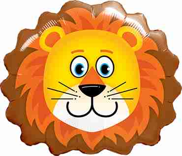 Lovable Lion Foil Shape 14in/35cm