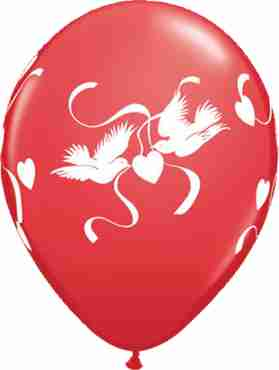 Love Doves Standard Red Latex Round 11in/27.5cm