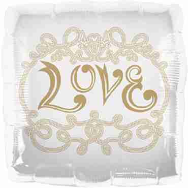 Love Foil Square 18in/45cm