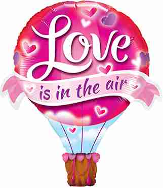 Love Is In The Air Balloon Foil Shape 42in/107cm
