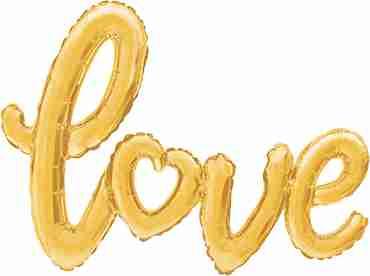 Love Script Gold 47in/119cm