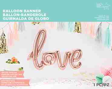 Love Script Rose Gold 40in/100cm