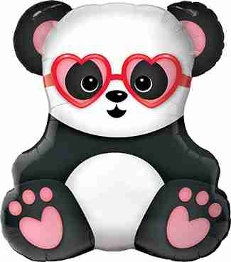 Lovestruck Panda Bear Foil Shape 32in/81cm