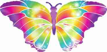 Luminous Butterfly Foil Shape 44in/112cm