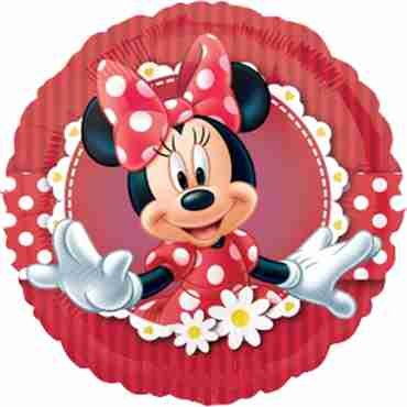 mad about minnie vendor foil round 18in/45cm