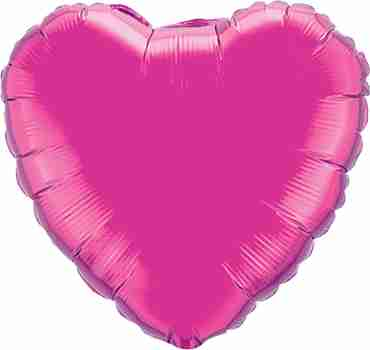 Magenta Foil Heart 36in/90cm