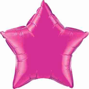 magenta foil star 36in/90cm