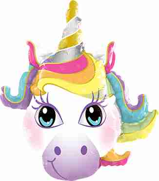 Magical Unicorn Foil Shape 14in/35cm