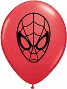 Marvels Ultimate Spider-Man Face Standard Red Latex Round 5in/12.5cm