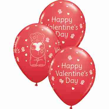 Me To You - Tatty Teddy Valentines Day Standard Red Latex Round 11in/27.5cm