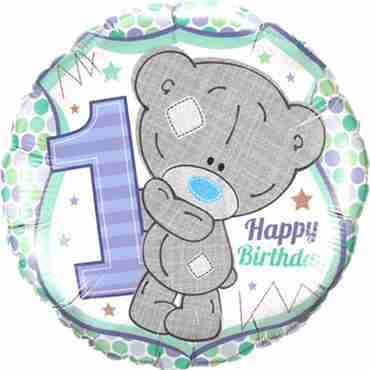 Me To You - Tiny Tatty 1st Birthday Boy Foil Round 18in/45cm