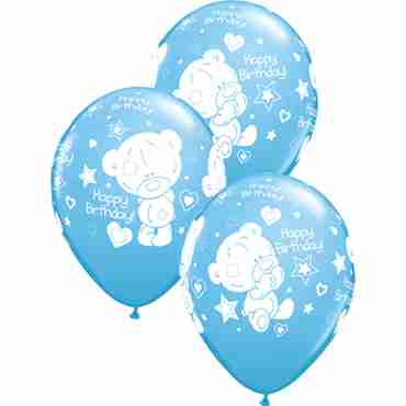 Me To You - Tiny Tatty Teddy Birthday Standard Pale Blue Latex Round 11in/27.5cm