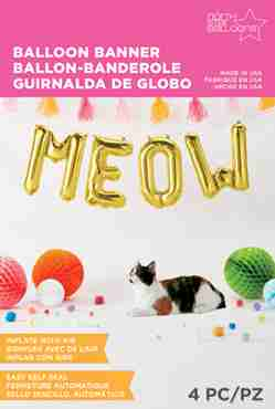 Meow Kit Gold Foil Letters 16in/40cm