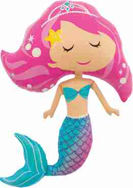 Mermaid Foil Shape 45in/114cm